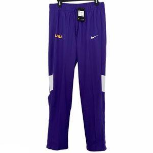Nike Dri-Fit Warm Up Track Pants LSU Purple Medium